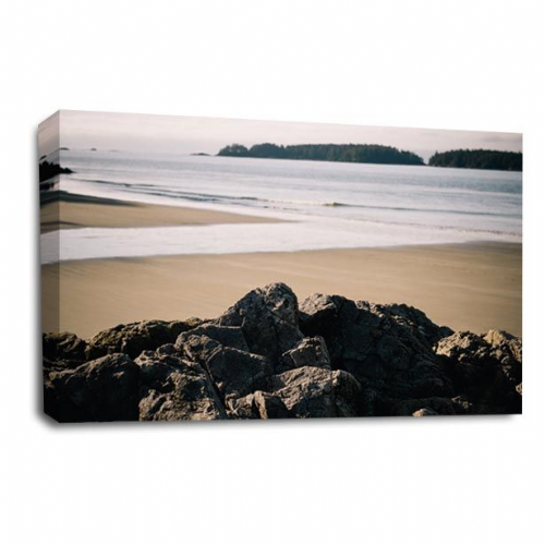 Sunset Seaside Wall Art Picture Beach Waves Ocean Rocks Print